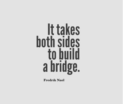 Let's build a bridge! | Receive Love – Give Love